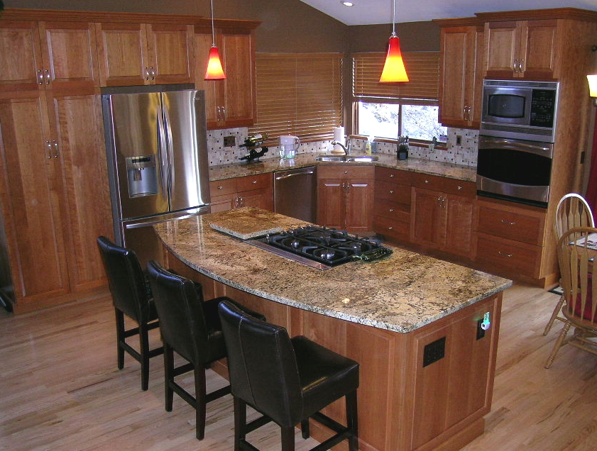 How much overhang for kitchen island islands kabco How to support granite overhang